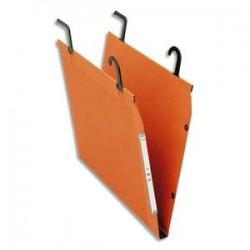 ESSELTE Boîte de 25 dossiers suspendus TMG pour TUBE en kraft 240g. Fond V, bouton-pression. Orange