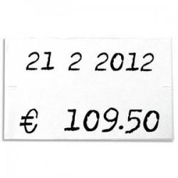 AGIPA Pack de 6 rouleaux de 1000 étiquettes blanches rectangulaires 26x16mm pour pinces 151992-101419