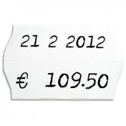 APLI AGIPA Boîte de 6 rouleaux de 1000 étiquettes permanentes Blanches sinusoïdales 26x16mm 100922