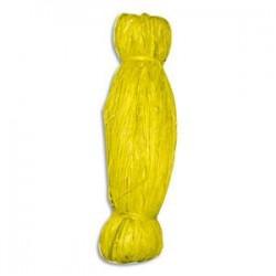 PW INTERNATIONAL Bobine de 50g de raphia végétal coloris Jaune, longueur non standardisée de 1 à 1,20m