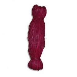 PW INTERNATIONAL Bobine de 50g de raphia végétal coloris Rouge, longueur non standardisée de 1 à 1,20m