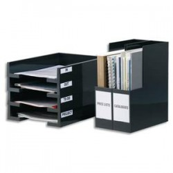 DURABLE Sachet de 10 porte-étiquettes adhésifs Pocketfix format 20x75mm polypropylène 8072-19