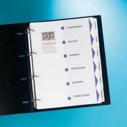 AVERY Jeu d'intercalaires 6 positions A4+ en carte blanche Index Maker imprimable et personnalisable