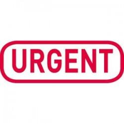 """TRODAT X-Print """"URGENT"""" 4912 rouge climatiquement neutre - encrage rouge"""