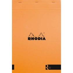 """RHODIA Bloc """"coloR"""" agrafé en-tête 22,5x29,7 (n°19) 140 pages lignées. Couverture rembordée orange"""