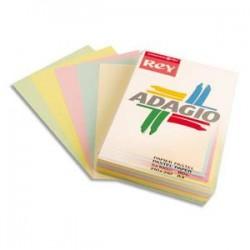 PAPYRUS Ramette 50 feuilles x 5 teintes papier couleur pastel & vive ADAGIO assortis pastel&vifs A4 160g