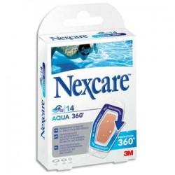 NEXCARE Boîte de 14 pansements en polyuréthane Aqua, 3 tailles