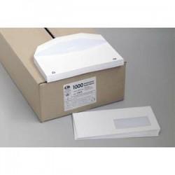 LA COURONNE Boîte de 1000 enveloppes velin blanc insertion mécanique 80g, 115X225mm fenêtre 45x100mm NF
