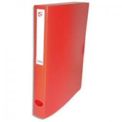 5 ETOILES Boîte de classement dos de 4 cm, en polypropylène 7/10e rouge