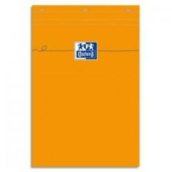 OXFORD Bloc de direction agrafé en tête 160 pages 80g unies 21x29,7 Couverture orange