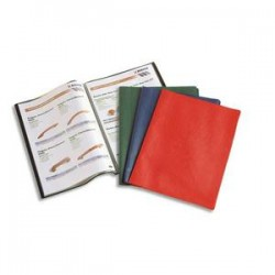 ELBA Protège-documents 40vues assortis Hunter, couv. en PVC 34/100e, pochettes en polypropylène 6/100e
