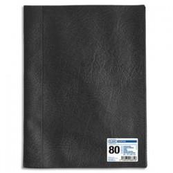 ELBA Protège-documents 80 vues noir Hunter , couv. en PVC 34/100e, pochettes en polypropylène 6/100e