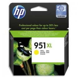 HP Cartouche jet d'encre jaune 951XL pour Officejet Pro 8600 e AIO / 8600 Plus e AIO CN048AE
