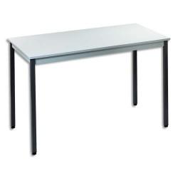 SODEMATUB Table polyvalente rectangulaire 120 x 60 cm gris/gris