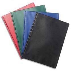 EXACOMPTA Protège document 80 vues soudé VEGA, couverture PVC 3/10, coloris assortis opaque