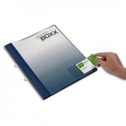 DURABLE Sachet 10 porte cartes de visite adhésifs, en polypro, 94x63mm, ouverture petit côté, transparent