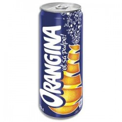 ORANGINA Canette Slim boisson gazeuse pétillante à l'orange 33 cl
