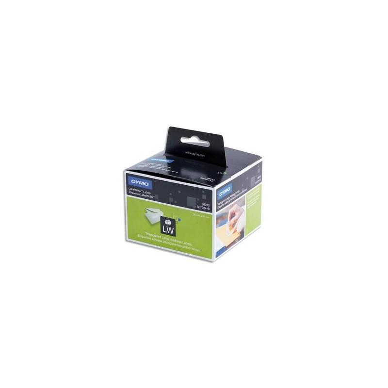 DYMO Rouleau 260 étiquettes adresses transparent adhésif permanent 36 x 89 mm S0722410