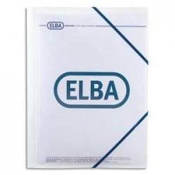 ELBA Chemise 3 rabats et élastique personnalisable , en polypropylène 5/10e