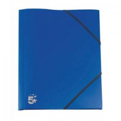 5 ETOILES Chemise 3 rabats et élastique en polypropylène 4/10e bleu marine.