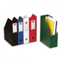 5 ETOILES Porte-revues en PVC soudé dos de 7 cm, noir, livré à plat