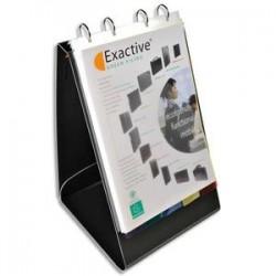 EXACOMPTA Classeur de présentation EXASHOW noir, format portrait, 2 pochettes intérieures