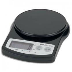 MAUL Pèse-lettre MAULalpha à pile plastique portée 2 kg - Plateau D12 cm, L13,7 x H3,6 x P18,8 cm noir