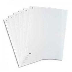 ELBA Boîte de 100 pochettes perforées QUICK'IN en polypro lisse 7/100. Format A4, 11 trous.