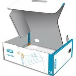ELBA Boîte de 500 pochettes perforées QUICK'IN en polypro lisse 7/100. Format A4, 11 trous.