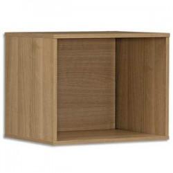 GAUTIER Cube Xenon, intégrable pour bibliothèques - Dimensions : L42 x H34 x P34 cm merisier Italien