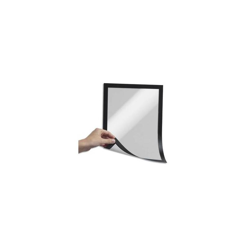 DURABLE Sachet de 5 Cadres d'affichage Duraframe dos magnétique noir format A4