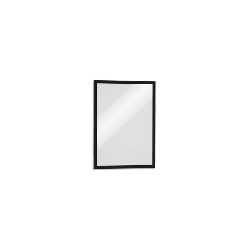 DURABLE Sachet de 5 Cadres d'affichage Duraframe dos magnétique noir format A3