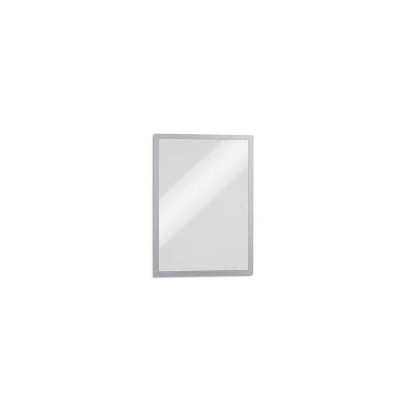 DURABLE Sachet de 5 Cadres d'affichage Duraframe dos magnétique argent métallisé format A3