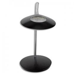 ALBA Lampe à Leds Aéro en aluminium noir - Tête 23 cm, 1Bras L56 cm et Socle D19 cm