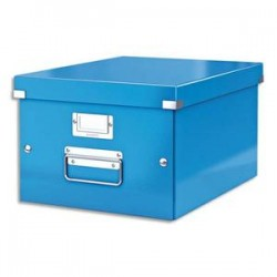 LEITZ Boîte CLICK&STORE M-Box. Format A4 - Dimensions : L281xH200xP369mm. Coloris bleu Wow.