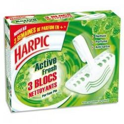 HARPIC Boîte de 3 blocs cuvette WC pin