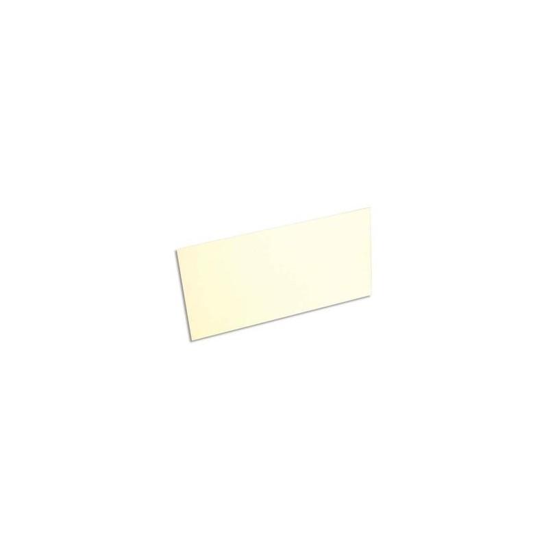 CLAIREFONTAINE Paquet de 25 cartes 210g POLLEN 10,6x21,3cm. Coloris ivoire