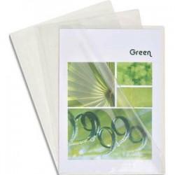 EXACOMPTA Boîte de 100 pochettes coin en PVC 14/100 ème. Coloris cristal.