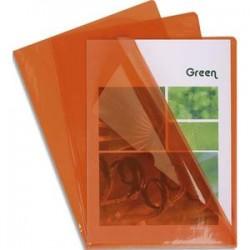 EXACOMPTA Boîte de 100 pochettes coin en PVC 14/100 ème. Coloris orange.