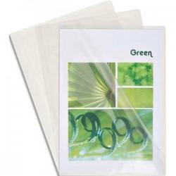 EXACOMPTA Boîte de 50 pochettes coin en PVC 20/100 ème. Coloris cristal.
