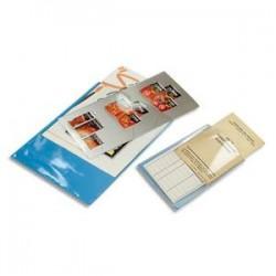EXACOMPTA Sachet de 10 étuis 2 faces en PVC 30/100 ème. Format 21 X 15 cm.