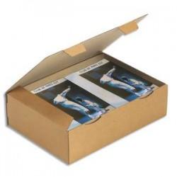 EMBALLAGE Boîte postale en carton simple cannelure havane - Dimensions : 43 x 30 x 12 cm