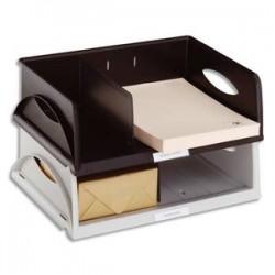 LEITZ Corbeille Sorty format à l'italienne Jumbo - Noir- L 40,5 x H 12,5 x P 30 cm