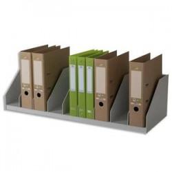 PAPERFLOW Trieurs 10 cases fixes pour classeurs à levier standard - Dimensions L89,7 x H21 x P29 cm gris
