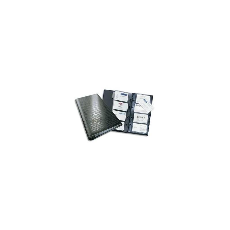 DURABLE Reliure Visifix anthracite à anneaux pour 280 cartes de visite L14,5 x H25,5 cm