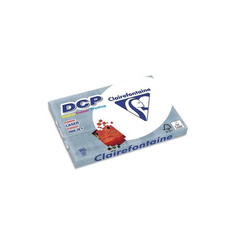 CLAIREFONTAINE Ramette de 250 feuilles papier blanc DCP copieur, laser, jet d encre couleur 160 gr A3
