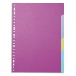 5 ETOILES Jeu d'intercalaires 6 positions en carte recyclée 170g. Format A4+