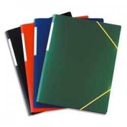 ELBA Chemise 3 rabats et élastique format A3, coloris assortis, en polypropylène 7/10e
