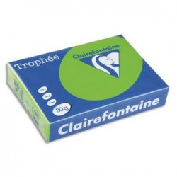 CLAIREFONTAINE Ramette de 500 feuilles papier couleur TROPHEE 80 grammes format A3 bleu alizé 1889