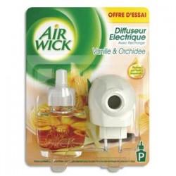 AIR WICK Diffuseur désodorisant électrique parfum vanille orchidée